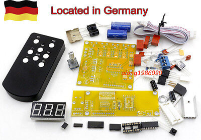DIY PGA2311 preamp remote volume control preamplifier kit with 4 way inputs   GE