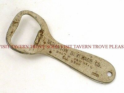 1930s Scranton Beverage Co. Beer flat bottle opener Tavern Trove