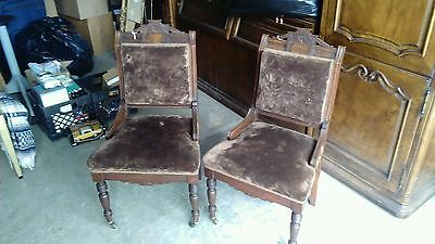 30% OFF!!! EAST LAKE Hand Carved Chairs, Solid Wood Antique, Victorian