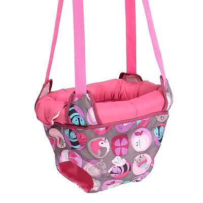 Evenflo ExerSaucer Door Jumper, Pink Bumbly, Fun Baby Swing Jump Up Bouncer, New