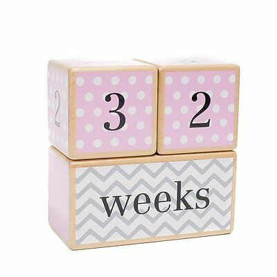LovelySprouts Milestone Age Blocks | Solid Wood | Baby Age Photo Blocks | Baby
