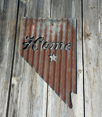 Up-cycled old Corrugated Metal Pick your own state Wall Hanging FREE SHIPPING