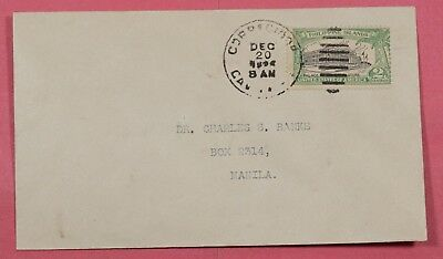 Philippines Cover 1926 # 319 Variety Shifted Vignette Corregidor Cancel To Manil