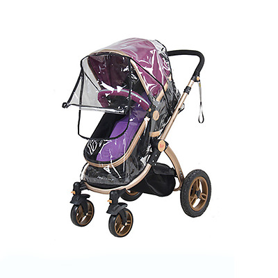 Baby Stroller Rain Cover Universal Buggy Pushchair Dust Shield Wind Shield Clear