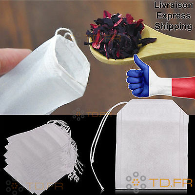 100 Empty Tea Bags Infusion Tisane Natural Drink. We deliver in E.U. !
