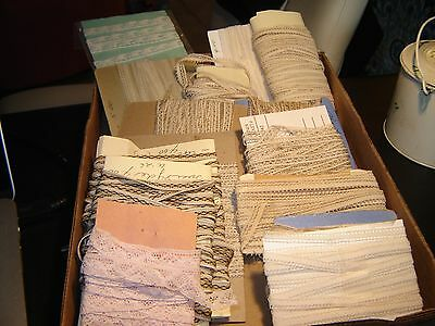 Large Lot Of VICTORIAN DOLL'S SIZE LACE TRIM THIN AND MORE THAN 50 + YARDS