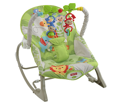 Fisher Price Reclining Baby Infant Toddler Rocker Chair Bouncer Feeding Seat