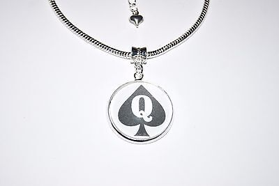 Queen Of Spades QOS Hotwife Charm Euro Anklet Ankle Chain Jewellery Slut BBC St1