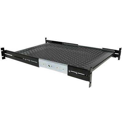 STARTECH 2U Adjustable Mounting Depth Vented Sliding Rack Mount Shelf # 50lbs /