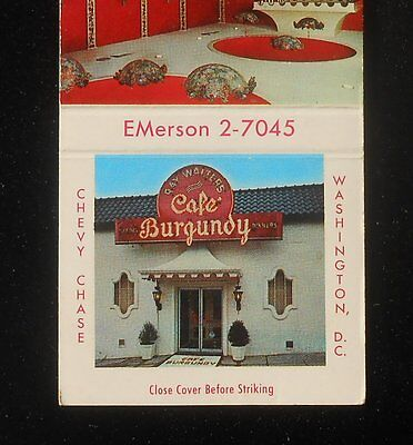 1950s Ray Walters Cafe Burgundy Color Photos Washington DC Chevy Chase DC MB