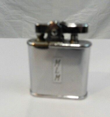 "Vintage 1940's Chrome ""RONSON Whirlwind"" USA Fluid Cigarette Lighter MLM"