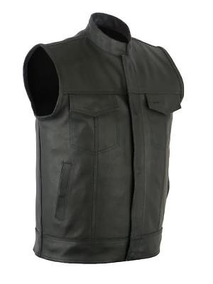 SOA Motorcycle Biker Club Outlaws concealed carry arms Gun Pockets Leather Vest