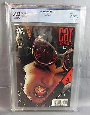 CATWOMAN #52 (Adam Hughes Cover) White CBCS Undergraded Gem 7.0 DC 2006 cgc