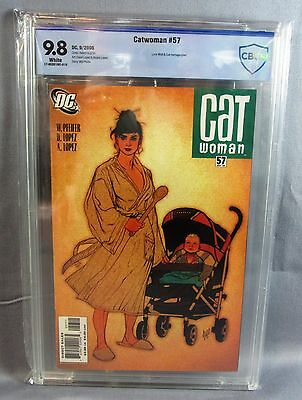 CATWOMAN #57 (Adam Hughes Cover) White Pages CBCS 9.8 NM/MT DC 2006 cgc