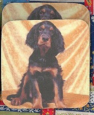 GORDON SETTER PUPPY Rubber Backed Coasters #0984
