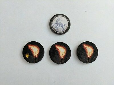 Game of Thrones Board Game Second Edition - 3 x Stark Raid Order Tokens