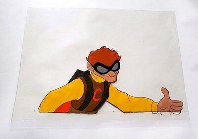 Vintage Screen-Used Condorman Animation Cel Disney Movie Film Art Production