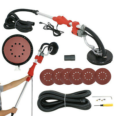 Electric Drywall Sander W/ Telescoping Handle 600w Variable Speed 6 Sanding Pads