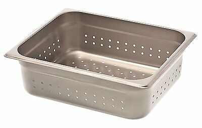 """Browne 8124P 4"""" Half-Size Perforated Steam Table Pan"""
