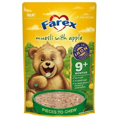 Farex Apple Muesli Cereal 9 Months+ 150G NEW Cincotta Chemist