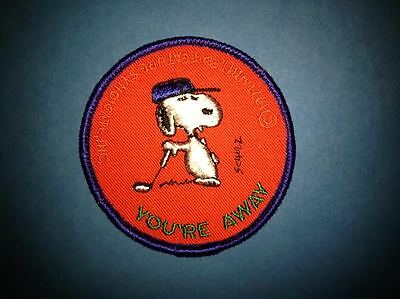 Rare Vintage 1971 Snoopy Peanuts Golf Joe Cool Hat Jacket Hoodie Patch Crest