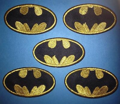 5 Lot Batman Collectable Iron On Jacket Hoodie Hat Backpack Patches Crests B