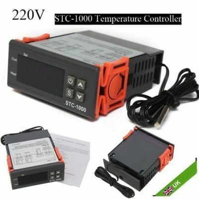 Temperature Controller Thermostat Aquarium STC1000 Incubator Cold Chain Temp UK