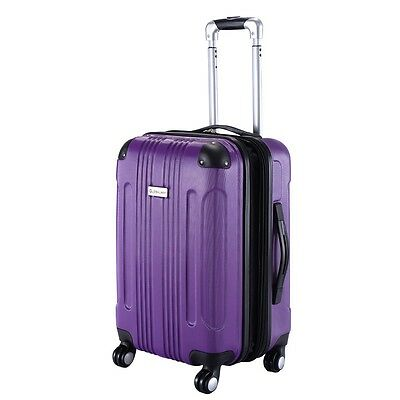 "20""  Expandable ABS Carry On Luggage Travel Bag Trolley Suitcase 5 Colors US"