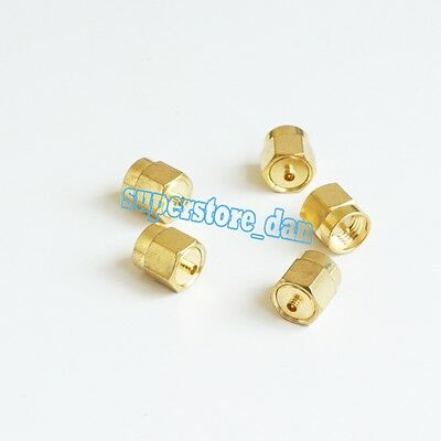 1Pcs Adapter SMA male to IPX U.fl male plug connector straight Golden