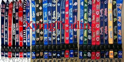1x MLB Neck lanyard Detachable Keychain strap NEW Pick Your Team! Quick Shipping