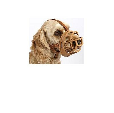 Baskerville Ultra Muzzle for Dog - size1 to 6 - TAN Permits panting & drinking
