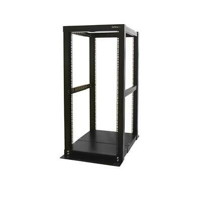 STARTECH 25U Adjustable Depth 4 Post Open Frame Server Rack Cabinet