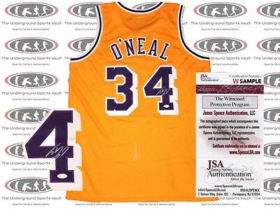 Shaquille O' Neal Signed Jersey Lakers JSA