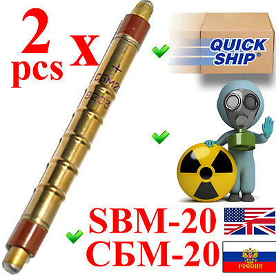 NEW 2 pcs SBM-20 / SBM20 / СБМ-20 (an. STS-5, SI22G) Geiger Tube Counter Tested
