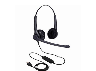 ADDCOM Entry Level Lync compatible Duo headset. Comfortable gets the job done an