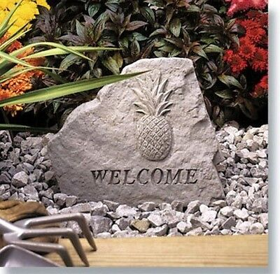 New Durable Waterproof Indoor/Outdoor Welcome Garden Stone with Pineappple