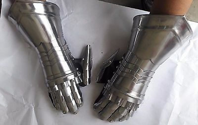 Medieval Gauntlets Armor Metal Plate one Pair set Gloves Knight Reenactment SCA