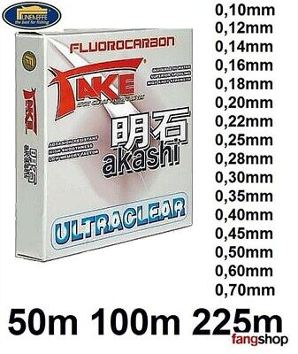 50m 100m 225m 0,12mm - 0,60mm Lineaeffe Take Akashi Fluorocarbon Fluocarbon Fluo
