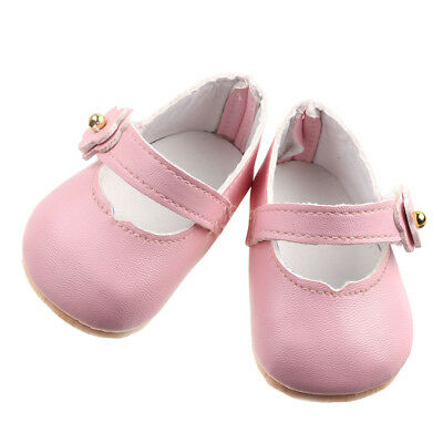 Pink Strap Shoes Flats Sneakers for 43cm/17inch Zapf Baby Born Doll Clothes