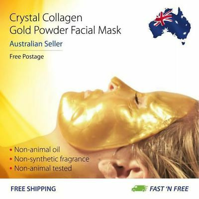 NEW Gold Bio-Collagen Face Mask, Anti Aging, Hydrating, Moisurizing & Lip Mask