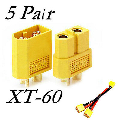 New XT60 Male & Female Bullet Connectors Plugs For RC LiPo Battery 10PCS