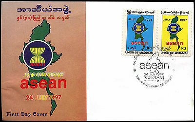 Myanmar 1997 South-East Asian Nations FDC First Day Cover #C40008