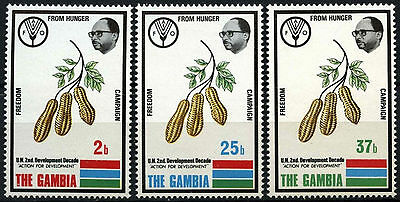 Gambia 1973 SG#298-300 Freedom From Hunger MNH Set #D45993