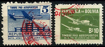 Bolivia 1955 SG#618-9 Obligatory Tax, Airport Fund Used Set #D45968