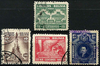 Bolivia 1941 SG#376-9 P.D. Murillo Used Set #D45936