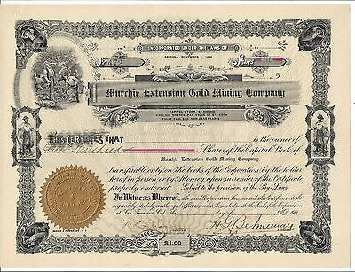 Murchie Gold Mining Company.......early 1900's Stock Certificate