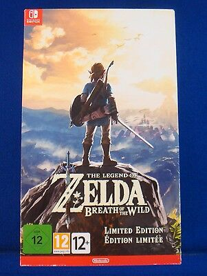 Switch LEGEND OF ZELDA Breath Of The Wild *BOX ONLY* Limited Edition NEW