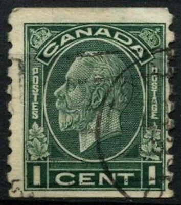 Canada 1932-3 SG#326, 1c Green Imperf x P8.5 Used #D45507