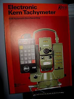 Kern Swiss R32 Electronic Tachymeter Data Recording Sales Brochure - Exc. Cond.