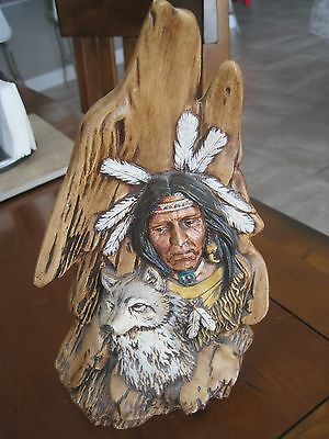 "Coyote Southwest reversable Statue 10"" ceramic w/signature"